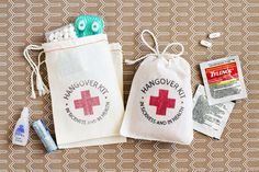 Be Collective -- adorable hangover kits -- perfect for wedding favors!