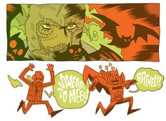 """Scaredy Bat"" by Dan Hipp"