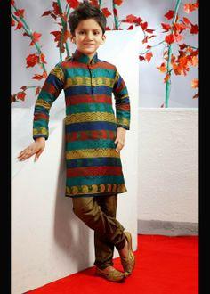 Boys Kurta, multi color stipped with churidar . Buy at - http://www.gravity-fashion.com/15894-boys-kurta-multi-color-stipped-with-churidar.html