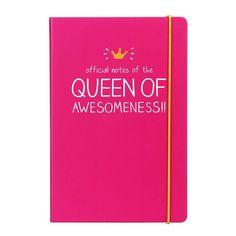 Happy Jackson notitieboek A5 official notes of the queen of awesomeness is verkrijgbaar bij My Lovely Notebook. Dit notitieboekje A5 met harde kaft is roze
