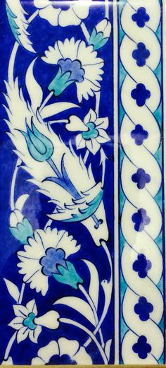 By İsmail yiğit Turkish Art, Turkish Tiles, Portuguese Tiles, Moroccan Tiles, Stencil Painting, Ceramic Painting, Islamic Patterns, Tile Patterns, Calligraphy Borders