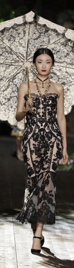 Dolce & Gabbana Alta Moda ~ Exotic + Elegant, Couture Black Embroidered…