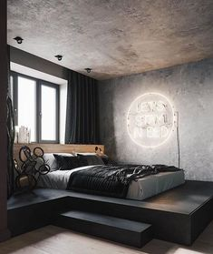 Elevated bed with a view. Elevated bed with a view. Elevated bed with a view. Elevated bed with a vi Vintage Bedroom Decor, Home Decor Bedroom, Bedroom Ideas, Bedroom Wall, Bedroom Lamps, Bedroom Furniture, Budget Bedroom, Ikea Bedroom, Furniture Design