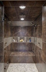Showers Without Doors Or Curtains Walk In Shower Mediterranean
