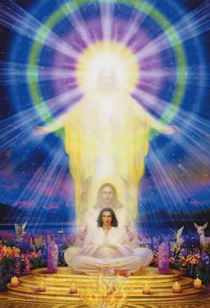 Embraced by Ascended Masters Masters Image Zen, Rose Croix, Ascended Masters, Jesus Pictures, Visionary Art, Angel Art, Sacred Art, Gods And Goddesses, New Age