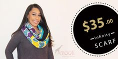 NINA INFINITY SCARF   Reversible long scarf or shawl made with 100% cotton and lined with fleece for a cozy warm feel.   African Accessories for Women   #scarf #womensfashion   Nationwide Shipping from Boston, MA