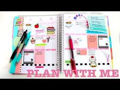 Plan With Me! #1 | Decorating My Erin Condren Planner - YouTube