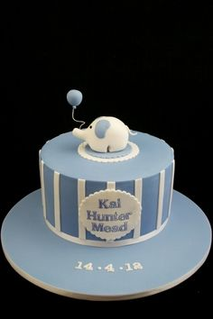 Elephant Naming Day Cake By Taste_Cake_Design on CakeCentral.com