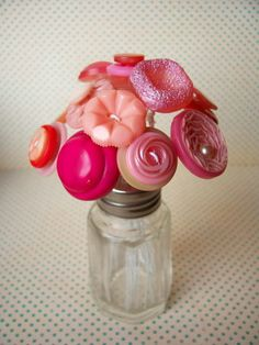 Button flowers :)