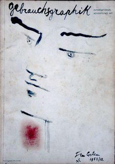 International Advertising Art: cover by Jean Cocteau