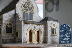 Gingerbread replica of a passionist church in Kent. Gingerbread Village, Christmas Gingerbread House, Christmas Cookies, Gingerbread Frosting, Decorator Frosting, Our Lady, Catholic, Ginger Bread, Decorating