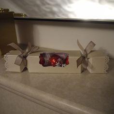 EPB Christmas Cracker treat box for 3 Lindor Chocolates
