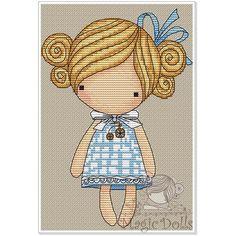 #mika__mila_katya #magic__dolls #crossstitch #вышивка @magic__dolls  Sissy/Неженка 68*98 stitch, 13 DMC color, cross stitch, backstitch
