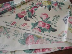 Vintage Greeff English Glazed Chintz Floral Upholstery Fabric from bellatarra on Ruby Lane