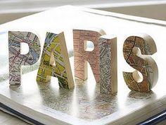 Decorative letters using maps