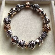 Love my (now-retired) oxidized two-tone bracelet. Looks great with goldies. :) - Yasmeen   ~ Beautiful Yasmeen! PandoraMOA