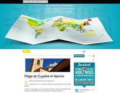 uneviedesvoyages.fr: Refreshing and innovative website entry with interactive map.