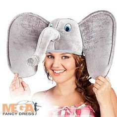 Elephant-Hat-Adults-Fancy-Dress-African-Zoo-Animal-Mens-Ladies-Costume-Accessory