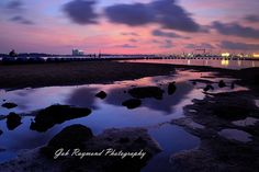 Morning @ Sembawang Beach - Morning photo shooting @ Singapore Sembawang Beach on 06 July 2016, this picture is taken at 6.35 am early morning, add the ND soft filter on the sky,using the rock for foreground on low tide at seaside,with the reflect light on it