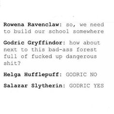 The Founders of Hogwarts