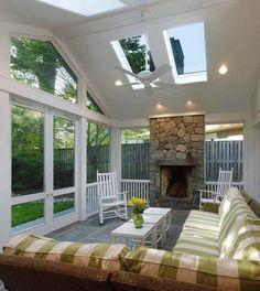 Outdoor Rooms, Outdoor Living, Outdoor Kitchens, Outdoor Patios, Indoor Outdoor Rugs, Screened Porch Designs, Screened Porches, Back Porch Designs, Covered Porches
