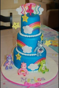 Carebears cake- paisley's birthday cake