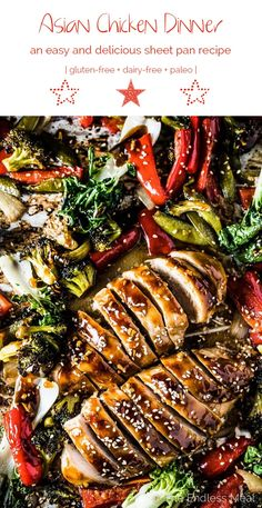 Easy healthy dinner recipe coming atcha! This delicious Sheet Pan Asian Chicken Dinner has all the flavors of your favorite stir-fry baked together in the oven. Weekday dinner magic! | theendlessmeal.com | #chicken #chickendinner #asian #paleorecipes #healthyrecipes
