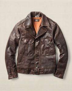 Leather Quinn Jacket - RRL RRL Sale - RalphLauren.com Giacche Di Pelle 7c5b0fdea0b