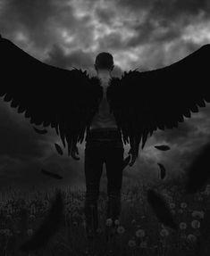Beautiful Legend Chester Bennington ❤🤘 Your voice will always be home💙🎤🤘 Dark Angels, Angels And Demons, Dark Angel Wings, Dark Fantasy Art, Dark Art, Ange Demon, Demon Art, Angel Warrior, Angel Aesthetic