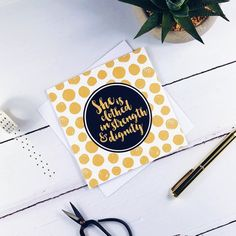 She Is Clothed In Strength & Dignity Gold Card - Proverbs Blessed Friends, Step Mum, Proverbs 31 25, Luxury Card, She Is Clothed, Dog Cards, Brush Lettering, White Envelopes, Card Stock