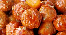 If you think about it, I don't know if any other time of the year requires as many appetizer recipes as RIGHT NOW! From Thanksgiving to Ne. Meatball Recipes, Chicken Recipes, Hawaiian Meatballs, Appetizer Recipes, Appetizers, Crockpot Recipes, Cooking Recipes, Spicy Sausage, Finger Foods
