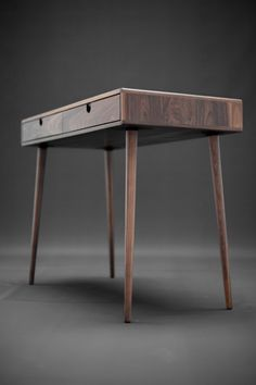 Solid Walnut board desk  Bureau  dressing table  office
