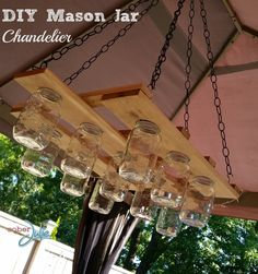 DIY Mason Jar Chandelier Project - love this project!