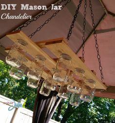 DIY Mason Jar Chandelier Project - Sober Julie