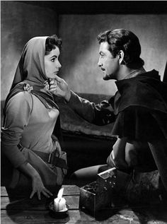 Liz and Robert in Ivanhoe Golden Age Of Hollywood, Classic Hollywood, Old Hollywood, Elizabeth Taylor, Robert Taylor Actor, Star Wars, Academy Award Winners, Romantic Scenes, Barbara Stanwyck