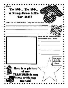 Here Is A Fun Red Ribbon Week Activity To Go With Pirate Dress Up