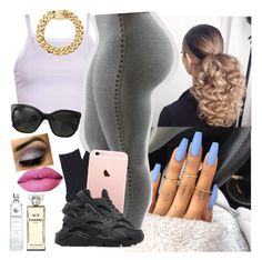 """""""✨"""" by saucinonyou999 ❤ liked on Polyvore featuring Falke, NIKE and Chanel"""