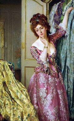 Nothing to Wear by Talbot Hughes (1869-1942)