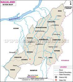 River Map of Nagaland