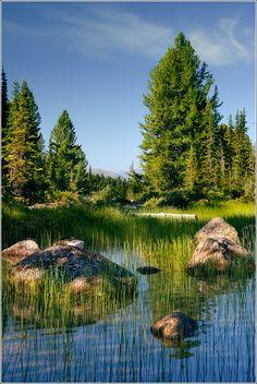 Ergaki national reserve. Svetloye lake. Khakassia. Siberia.