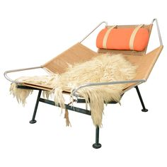 "Hans Wegner  ""Flag Line"" Halyard Lounge Chair 