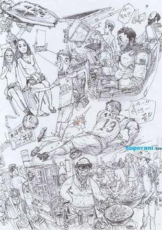 Artwork by Kim Jung Gi