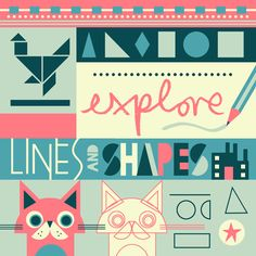 Lines and Shapes for kids | Ivy Press - Owen Davey Illustration