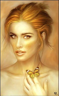 Captivating.  I officially have a fantasy woman crush.    Beautiful Digital Portraits by Igor Grushko