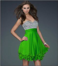2017 Free Shipping Lime Green A Line Knee Length Chiffon Wedding Bridal Gowns Party Dress In Stock All Sizes On Aliexpress