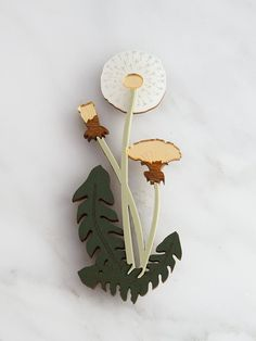 A whimsical statement brooch with an illustrated dandelion design. The Garden is a playful collection of acrylic and wood jewellery, inspired by Teardrop Earrings, Gemstone Earrings, Handmade Necklaces, Handmade Jewelry, Dandelion Designs, Inexpensive Jewelry, Laser Cut Jewelry, Dandelion Flower, Dragonfly Necklace