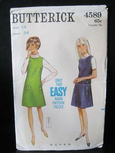 Butterick Pattern 4589 Size 14 Easy Jumper Pattern