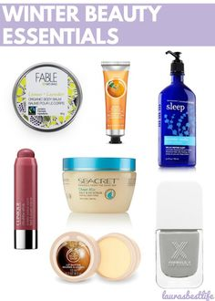 During the cold winter months, these are some great beauty essentials to keep your skin soft & yourself beautiful! :)