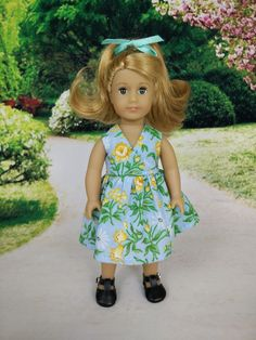 Wrap dress for American Girl mini dolls 01