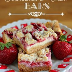 Strawberries & Cream Bars Recipe | Yummly